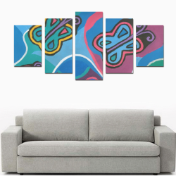 Solo sueño mariposas PAINTING Canvas Print Sets D (No Frame)