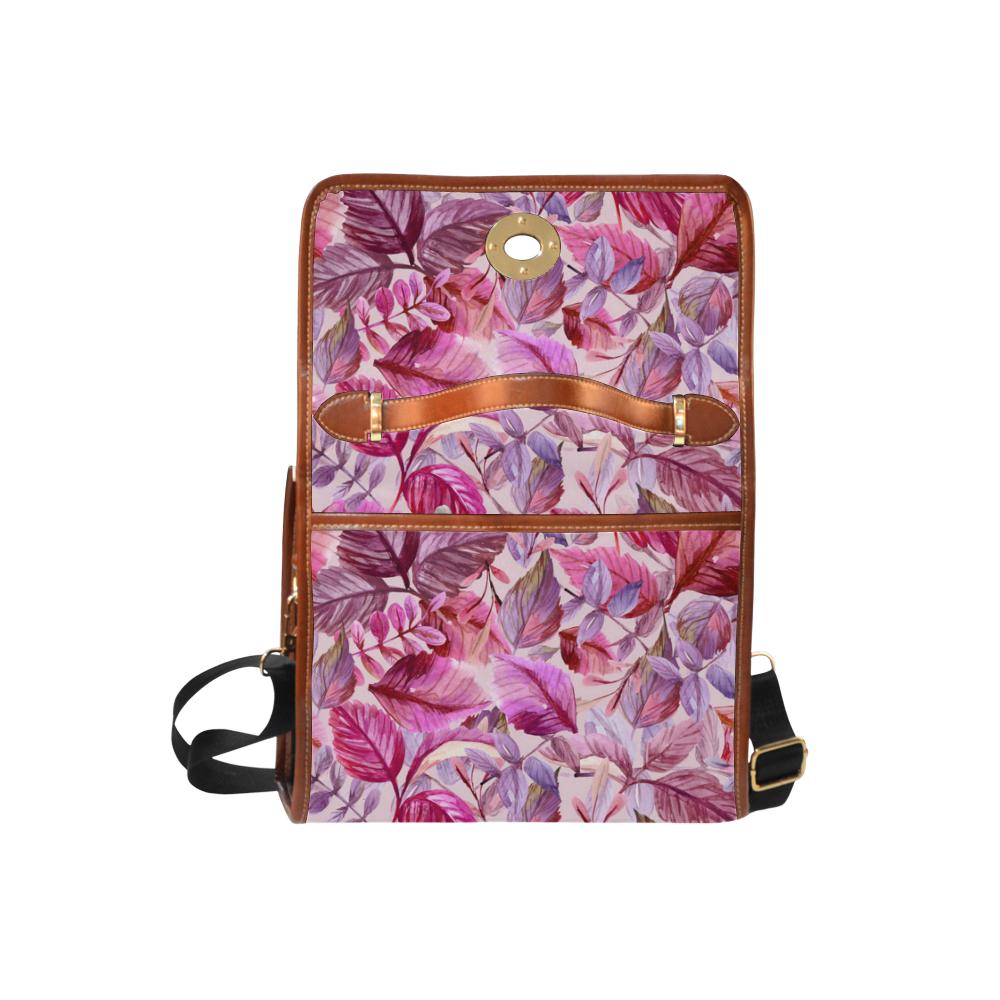 Pink Fantasy Waterproof Canvas Bag/All Over Print (Model 1641)