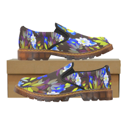 FLORAL DESIGN 1 Martin Women's Slip-On Loafer/Large Size (Model 12031)