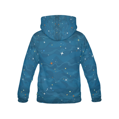 blue night All Over Print Hoodie for Women (USA Size) (Model H13)