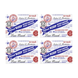 Colonel Bleep Placemat Membership Card Placemat 14'' x 19'' (Four Pieces)