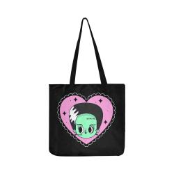 Bride_face_heart_ bag Reusable Shopping Bag Model 1660 (Two sides)
