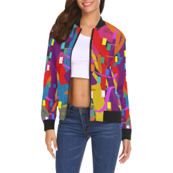 CONFETTI NIGHTS 2 All Over Print Bomber Jacket for Women (Model H19)