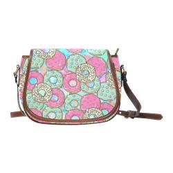 Doughnut (Donut) Pattern Saddle Bag/Small (Model 1649) Full Customization