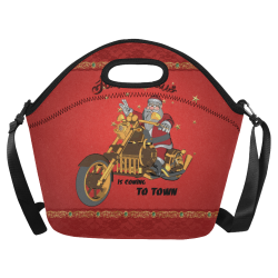 Santa Claus wish you a merry Christmas Neoprene Lunch Bag/Large (Model 1669)