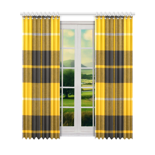 "BARCLAY DRESS LIGHT MODERN TARTAN Window Curtain 52"" x96""(One Piece)"