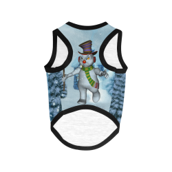 Funny grimly snowman All Over Print Pet Tank Top