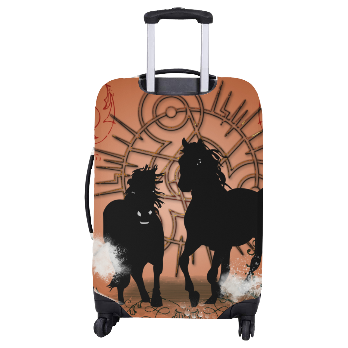 "Black horse silhouette Luggage Cover/Large 26""-28"""