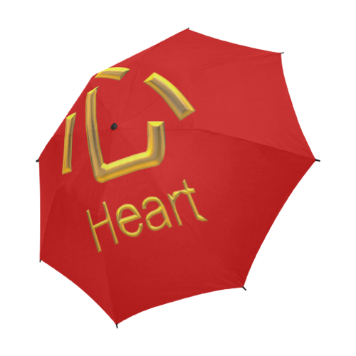 g-Golden Asian Symbol for Heart Semi-Automatic Foldable Umbrella (Model U05)
