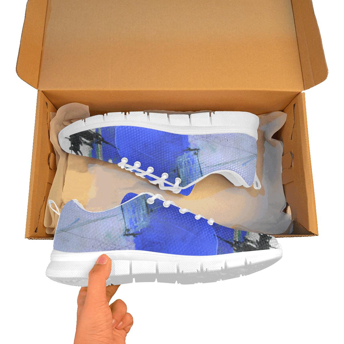 LUA blue Men's Breathable Running Shoes (Model 055)