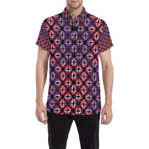 daring Men's All Over Print Short Sleeve Shirt (Model T53)