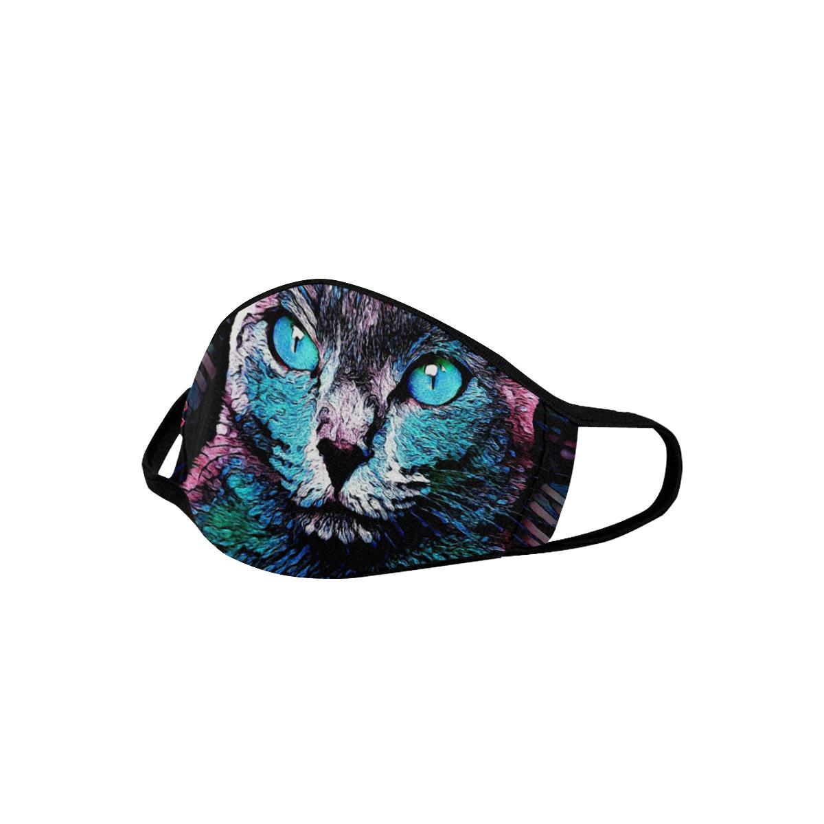 CAT ART BLUE DESIGN MASK Mouth Mask
