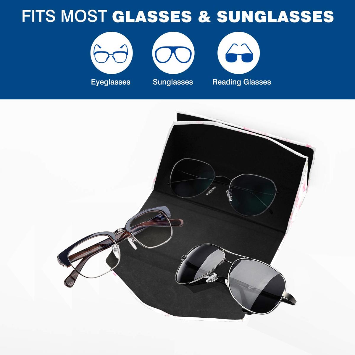 Pattern Orchidées Custom Foldable Glasses Case