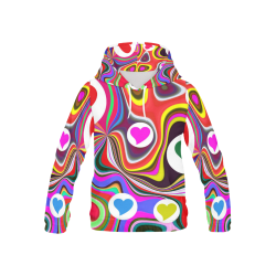 DESIGN B127 All Over Print Hoodie for Kid (USA Size) (Model H13)