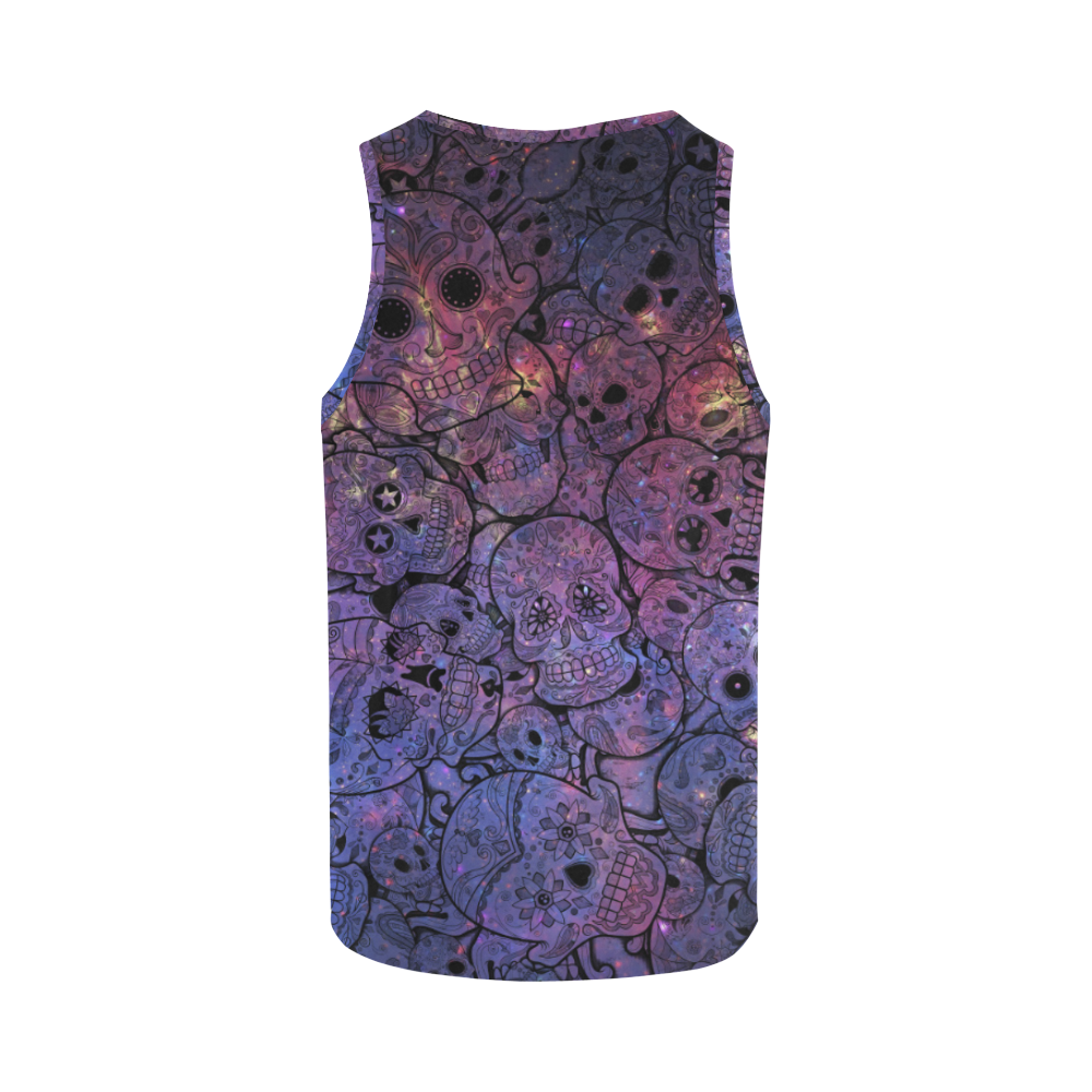 Cosmic Sugar Skulls All Over Print Tank Top for Women (Model T43)