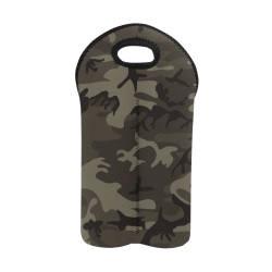 Camo Grey 2-Bottle Neoprene Wine Bag