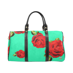 Fairlings Delight's Floral Luxury Collection- Red Rose Waterproof Travel Bag/Small 53086e17 New Waterproof Travel Bag/Small (Model 1639)