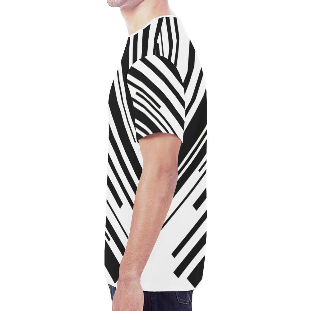 side lines New All Over Print T-shirt for Men (Model T45)