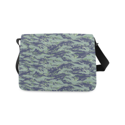 Jungle Tiger Stripe Green Camouflage Messenger Bag (Model 1628)
