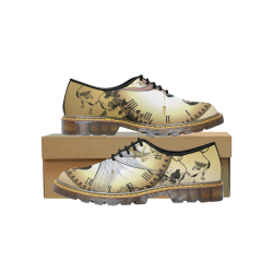 Steampunk, wonderful fairy, clocks and gears Men's Wholecut Dress Shoes (Model 4026)