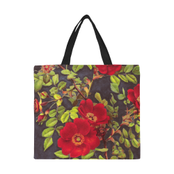 flowers #flowers #pattern #flora All Over Print Canvas Tote Bag/Large (Model 1699)