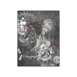 """Aweswome steampunk horse with wings Blanket 50""""x60"""""""
