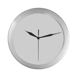 1qweqwe Silver Color Wall Clock