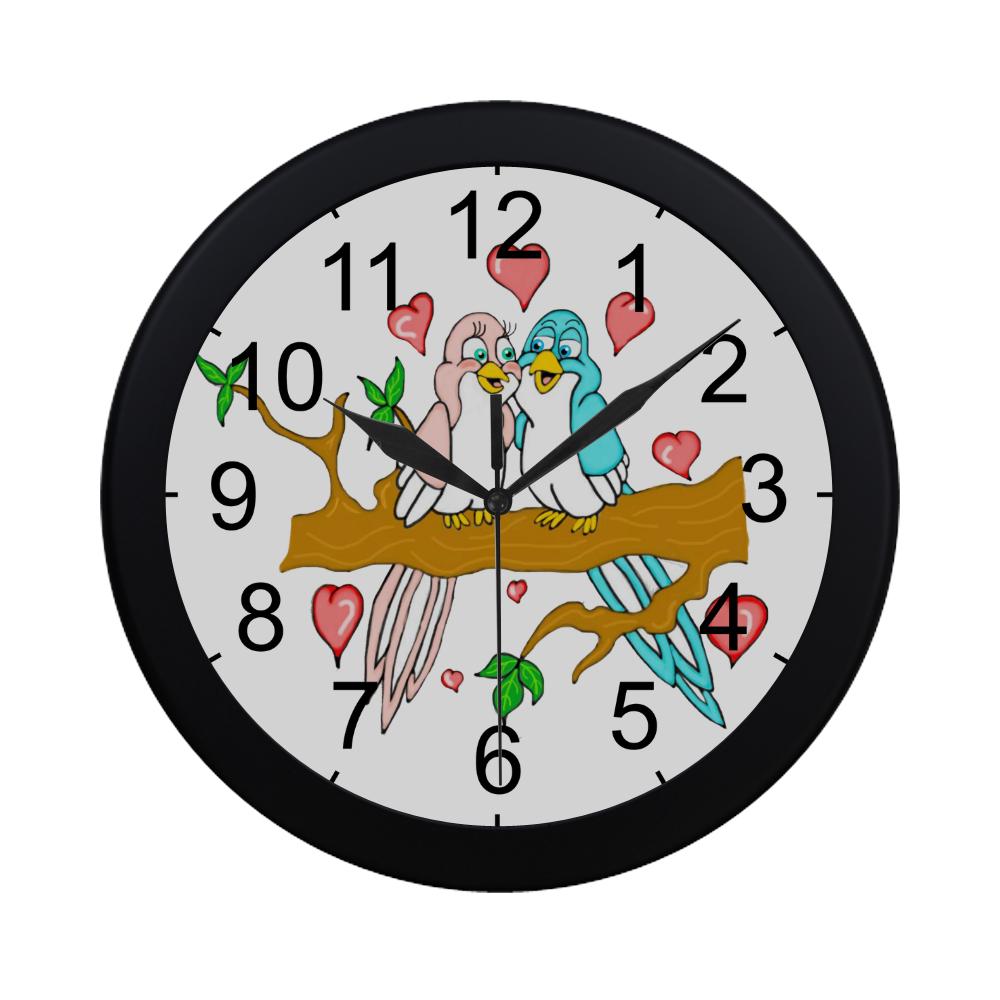 Love Birds Circular Plastic Wall clock