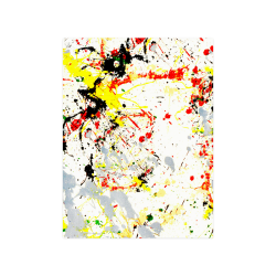 "Black, Red, Yellow Paint Splatter Poster 18""x24"""