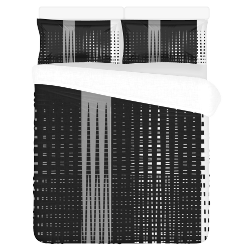 TriColor Fences 3-Piece Bedding Set