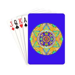 "maguen david sticker 4 Playing Cards 2.5""x3.5"""