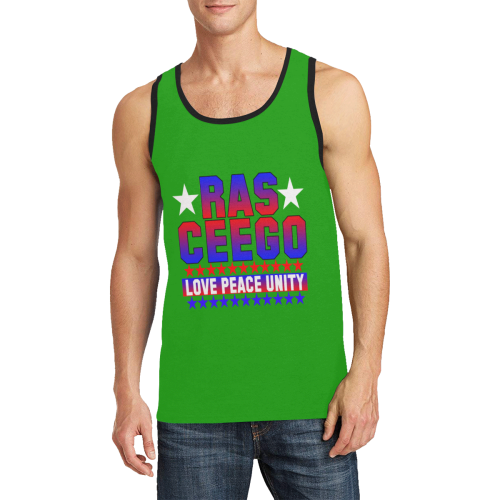 Ras CeeGo green red white blue Men's All Over Print Tank Top (Model T57)