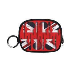 Union Jack British UK Flag Guitars - Red Coin Purse (Model 1605)