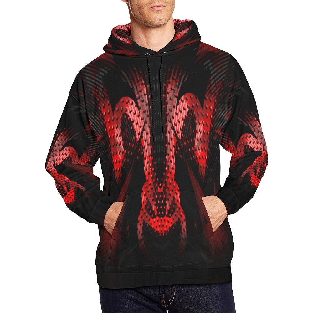 Alien Ram Crew All Over Print Hoodie for Men/Large Size (USA Size) (Model H13)