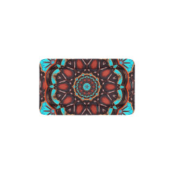 """K172 Wood and Turquoise Abstract Pet Bed 22""""x13"""""""