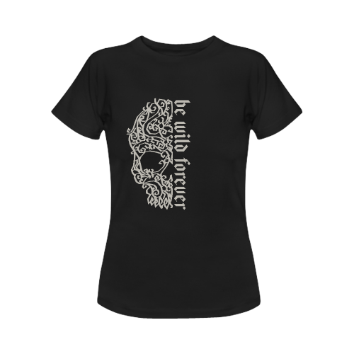 Artsy Vintage Skull - Be Wild Forever 1 Women's Classic T-Shirt (Model T17)