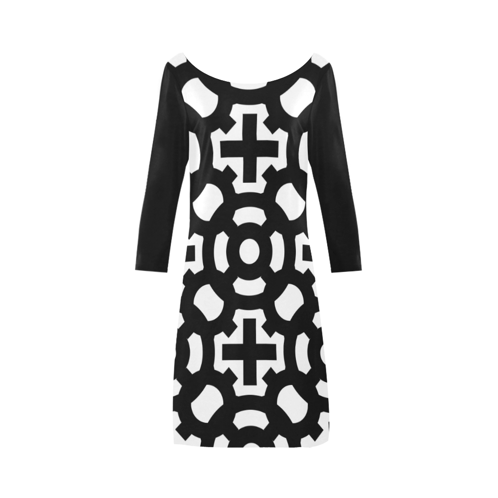 Dress longue 1 Bateau A-Line Skirt (D21)