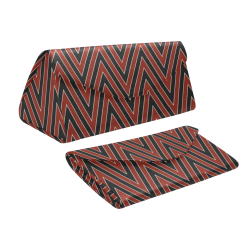 Red And Blue Chevrons Custom Foldable Glasses Case