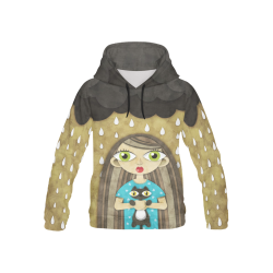 We Love Rain All Over Print Hoodie for Kid (USA Size) (Model H13)