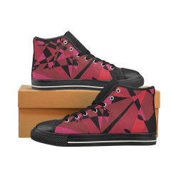 Abstract #8 S 2020 High Top Canvas Shoes for Kid (Model 017)