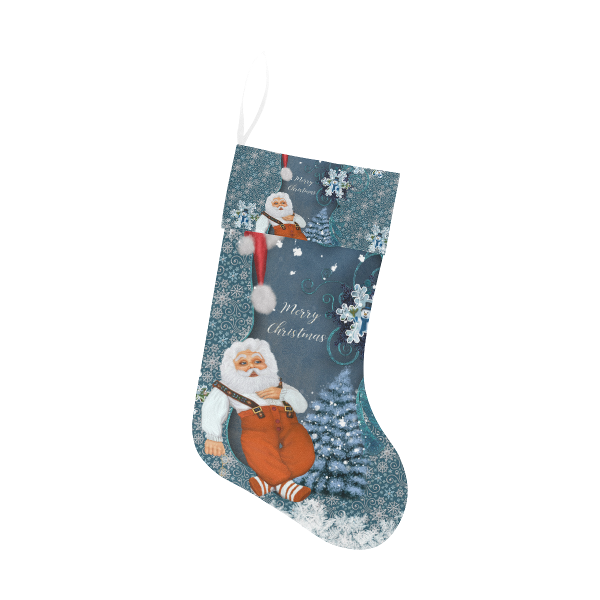 Funny Santa Claus Christmas Stocking