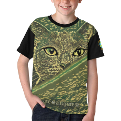 CAT AMERA CAMOUFLAGE II Kids' All Over Print T-shirt (Model T65)
