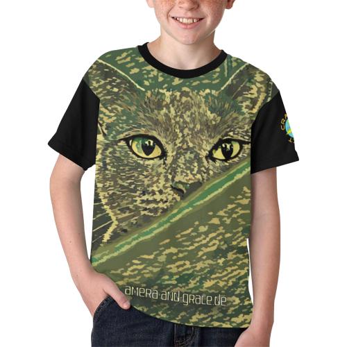 CAT AMERA CAMOUFLAGE II Kids' All Over Print T-shirt (Model T65)