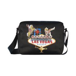 Las Vegas Welcome Sign Classic Cross-body Nylon Bags (Model 1632)