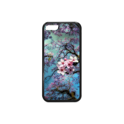 Cherry blossomL Rubber Case for iPhone 5c