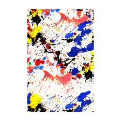 "Blue and Red Paint Splatter Poster 22""x34"""