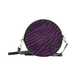Ripped SpaceTime Stripes - Purple Round Sling Bag (Model 1647)