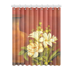 "White Roses Window Curtain 52"" x 63""(One Piece)"