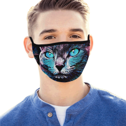 CAT ART BLUE DESIGN MASK Mouth Mask