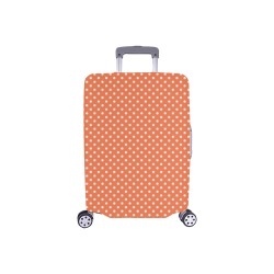 """Appricot polka dots Luggage Cover/Small 18""""-21"""""""